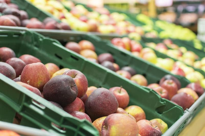 Plastic pallets and crates provide a hygienic solution for food supply chain.