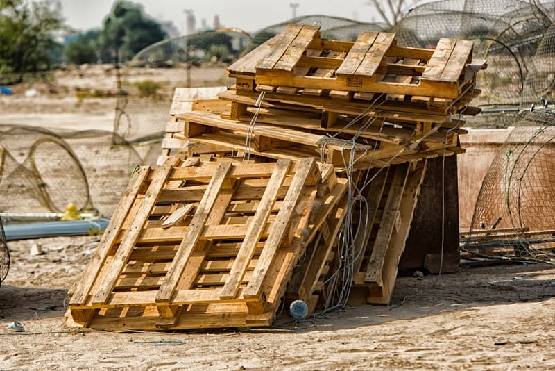 Broken wooden pallets pose hygiene risk.