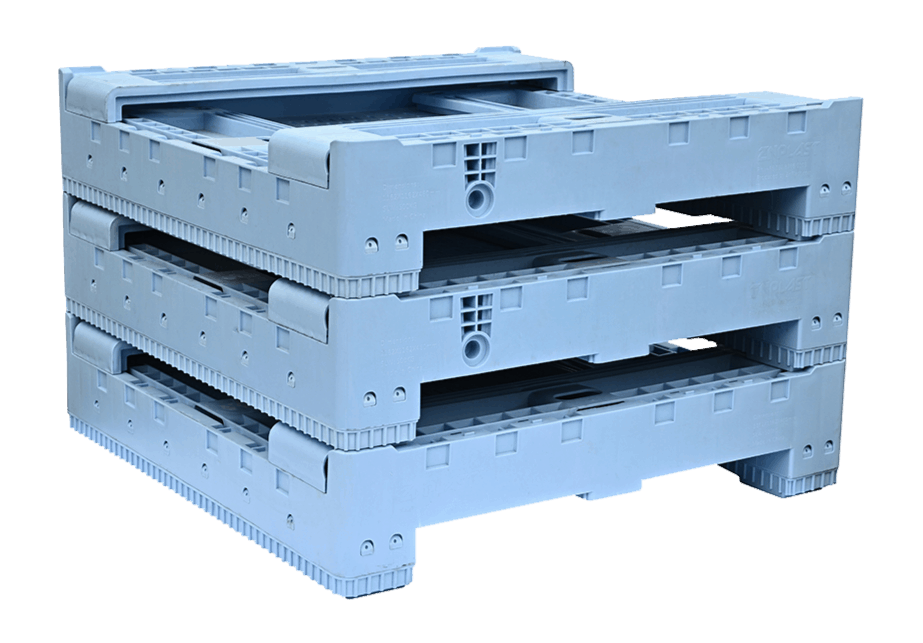 AU Standard Sized Collapsible Crate Stacked